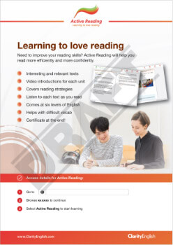 Learning to love reading