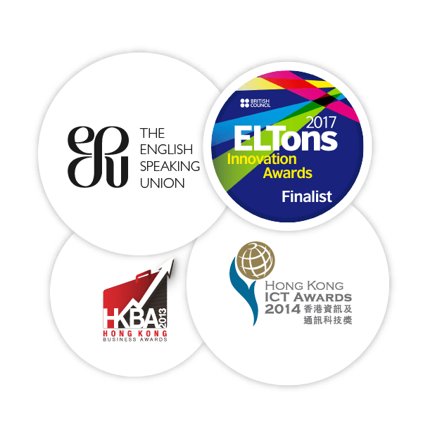 ClarityEnglish's awards - ICT award, HKBA award, ELTON awards